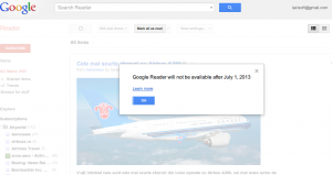 Google Reader is being shut down